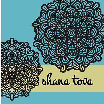 Shana tova Jewish New Year cards by undainty