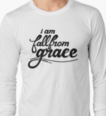 iamfallfromgrace - Text - Black Long Sleeve T-Shirt