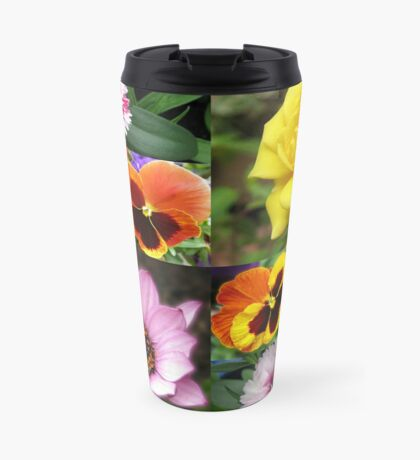 Sunkissed Summer Flowers Collage - ungerahmt Thermosbecher