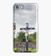 celtic cross headstone and crucifix iPhone Case/Skin