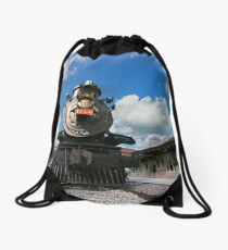 At the Depot Drawstring Bag