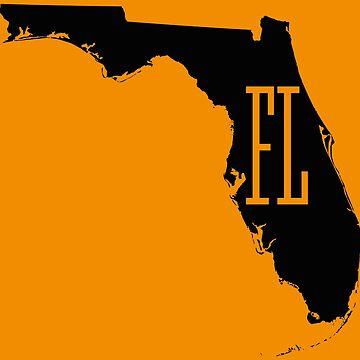 Florida State Map FL Abbreviation by Chocodole