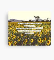 Jeremiah Sunflowers Canvas Print