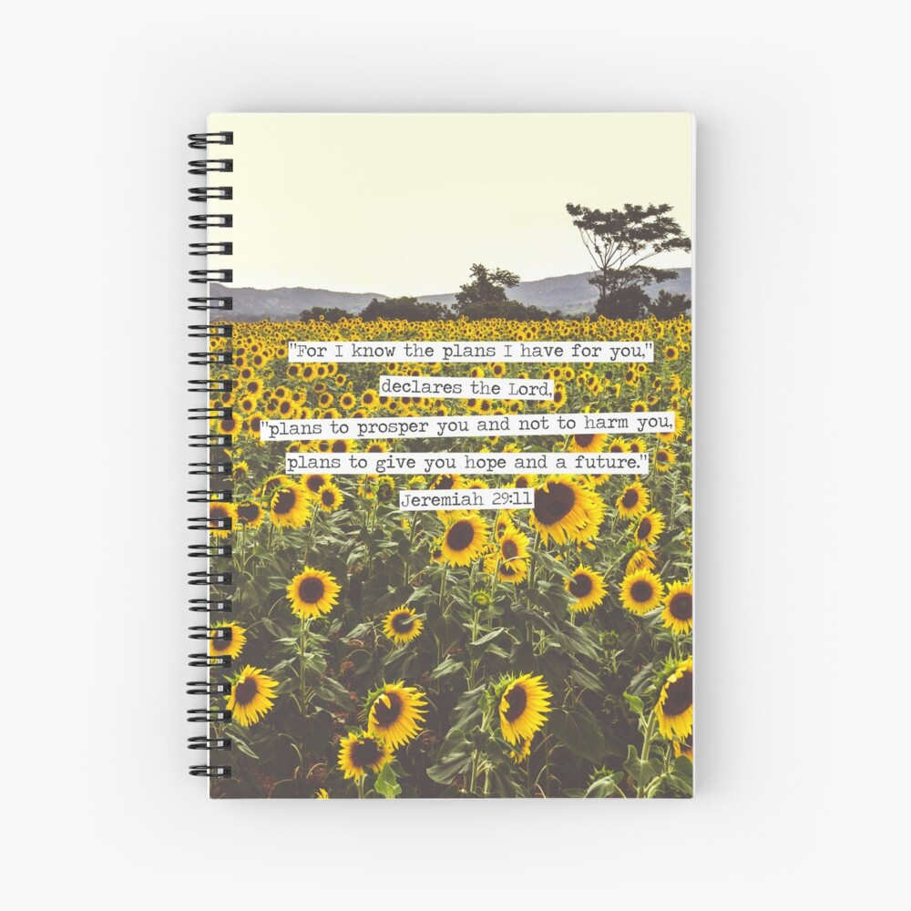 Jeremiah Sunflowers Spiral Notebook