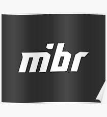 MiBR Logo White Poster