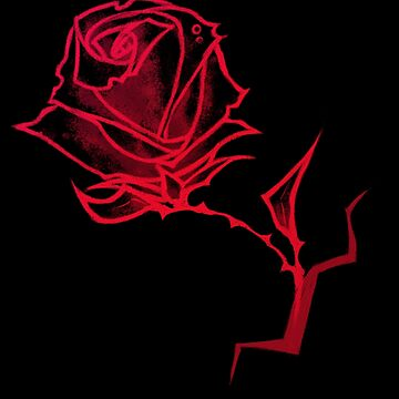 Red - Blood Rose T-Shirt by m-ersan