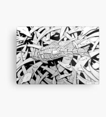 270 - STYLISED PERCH - DAVE EDWARDS - INK Metal Print
