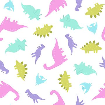 Cute colourful dinosaurs by kondratya