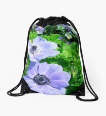 Bluer Than Blue Drawstring Bag