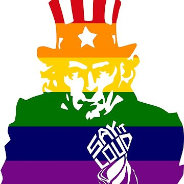 SAY IT LOUD: Uncle Sam (Rainbow) by carbonfibreme