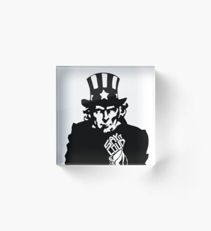 SAY IT LOUD: Uncle Sam Acrylic Block