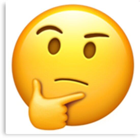 Resultado de imagen de emoticono cara pensante