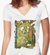 A Kiss of Summer * Women's Fitted V-Neck T-Shirt