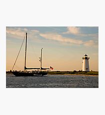 Day's End Edgartown Light Photographic Print