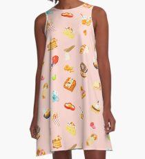 Breakfast Doggy A-Line Dress