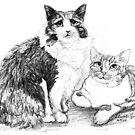 Cats 1 by Linda Costello Hinchey