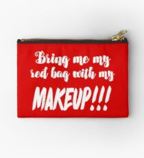 Anfisa Quotes 90 Day Fiance Tribute Art  - Red Makeup Bag  Studio Pouch