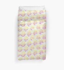Bright Geometric Lines Pattern Duvet Cover