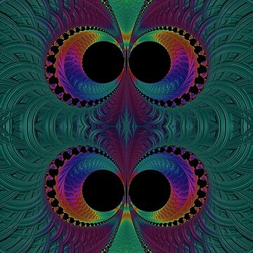 Peacock Feathers Eyes Fractal Abstract by Artist4God