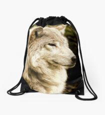 At Rest - Forest of Wolves Series Drawstring Bag