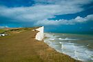 Beachy Head Cliffs and Lighthouse: East Sussex UK by DonDavisUK