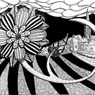 268 - FLOWER OF THE VILLAGE - DAVE EDWARDS - INK - 2018 by BLYTHART
