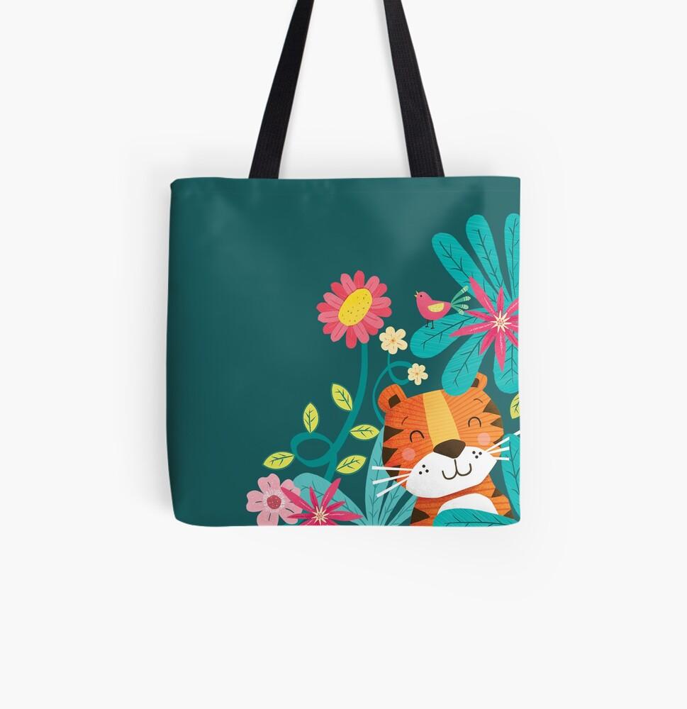 Jungle Tiger All Over Print Tote Bag