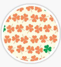 Orange & Green Shamrock Pattern Sticker