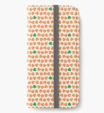 Orange & Green Shamrock Pattern iPhone Wallet/Case/Skin