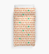 Orange & Green Shamrock Pattern Duvet Cover