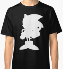 Classic Sonic Silhouette - White Classic T-Shirt
