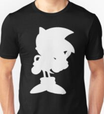 Classic Sonic Silhouette - White T-Shirt