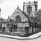 182 - ST. CUTHBERT'S CHURCH, BLYTH - DAVE EDWARDS - INK - 1991 by BLYTHART
