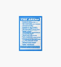 Arena Middlesbrough Retro Flyer Art Board Print