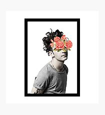 flower censored. Photographic Print