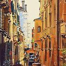 Vector Venice, Italy Canal by Zero Dean