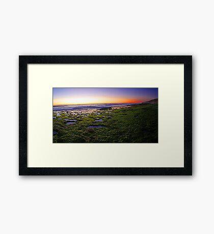 North Beach At Dusk  Framed Print