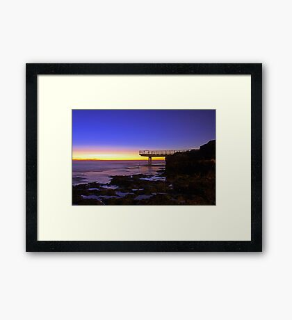 North Beach Jetty At Dusk  Framed Print