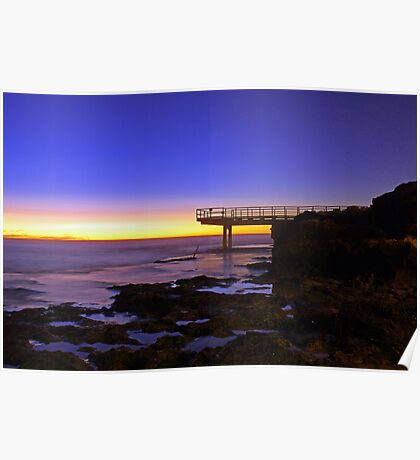 North Beach Jetty At Dusk  Poster