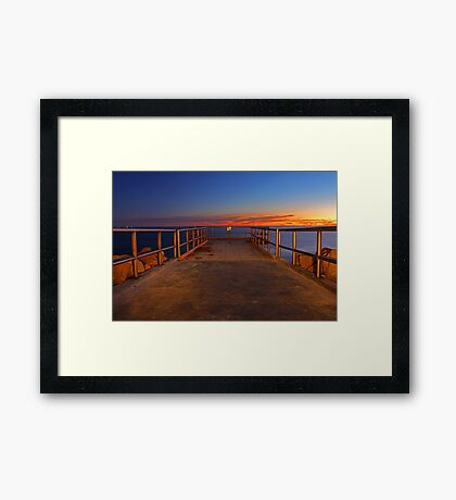 North Beach Jetty  Framed Print
