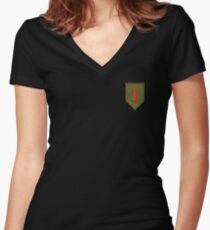 Big Red One - 1st Infantry Division Women's Fitted V-Neck T-Shirt