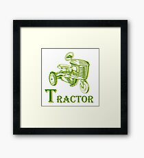 T is for Tractor Framed Print