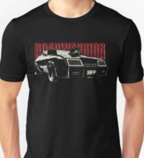 """Mad Max Inspired Roadwarrior """"Wasted Edition""""   White Red Unisex T-Shirt"""