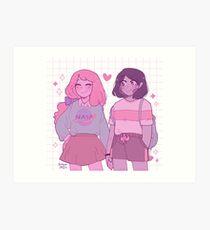 pastel bubbline Art Print
