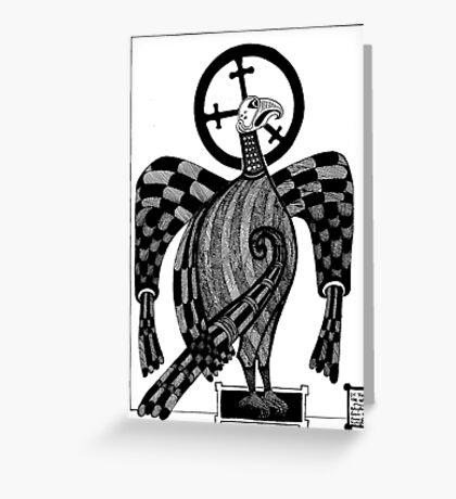 71 - ST. JOHN THE EAGLE - DAVE EDWARDS - INK - 1983 Greeting Card