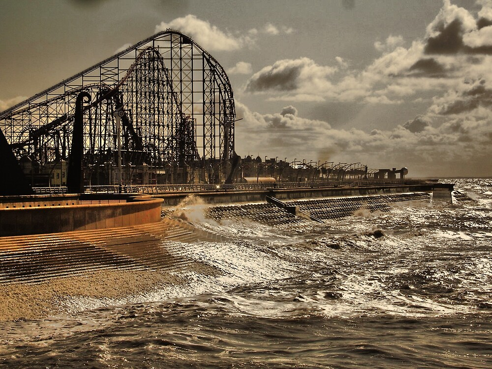 Blackpool Pleasure Beach by Fred Arrowsmith
