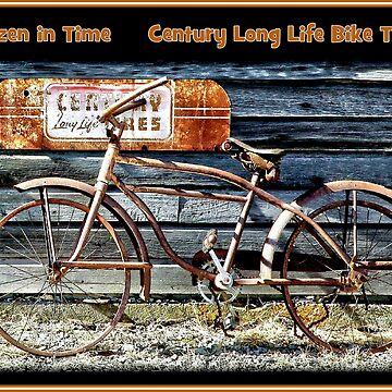 CENTURY LONG LIFE TIRES : Vintage Bike Advertising Print by posterbobs