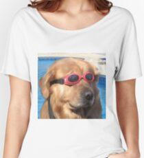 b6b1b7a5f79 Swimming Goggles Dog Women s T-Shirts   Tops