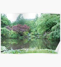 The Lake at Butchart Gardens Poster