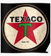 Texaco - Vintage Sign Poster